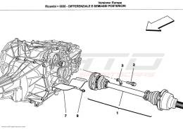 Ferrari California DIFFERENTIAL AND REAR AXLE SHAFTS