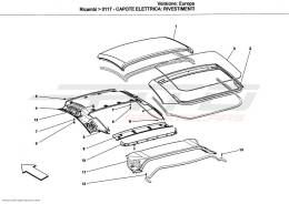 Ferrari California ELECTRICAL CAPOTE: LININGS