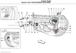 Ferrari California FRONT DOORS: MECHANISMS