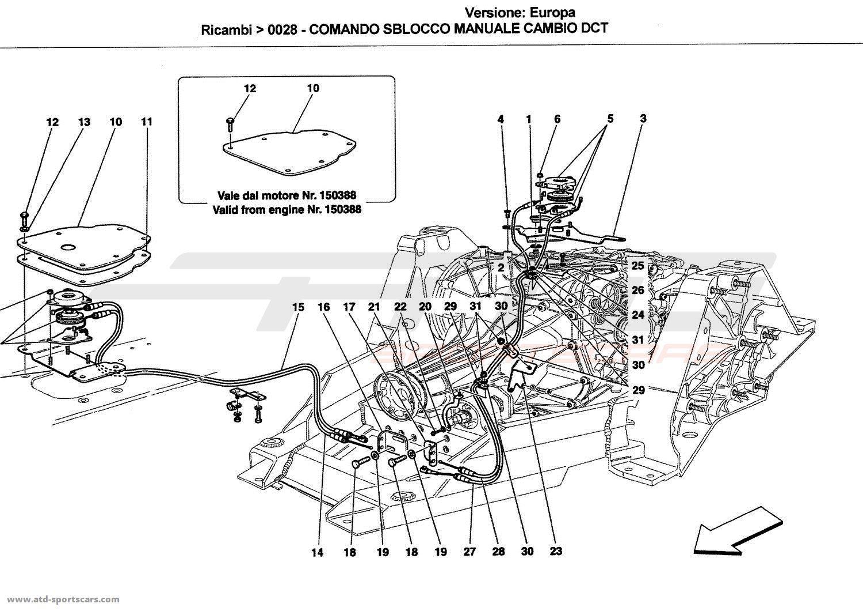 Ferrari California MANUAL RELEASE CONTROL FOR DCT GEARBOX ...