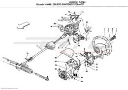 Ferrari California STEERING COLUMN AND STEERING WHEEL UNIT