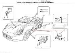 Ferrari California TYRES PRESSURE MONITORING SYSTEM