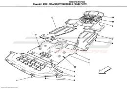 Ferrari California UNDERBODY AND UNDERFLOOR GUARDS