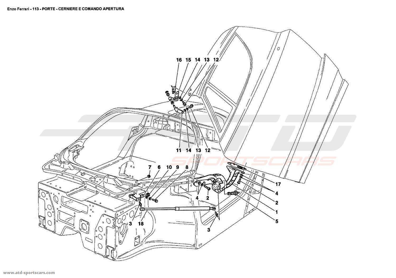Ferrari Enzo DOORS - HINGE AND OPEN CONTROL  sc 1 st  ATD-Sportscars & Ferrari Enzo DOORS - HINGE AND OPEN CONTROL parts at ATD-Sportscars ...