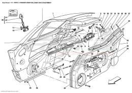 Ferrari Enzo DOORS - OPENING CONTROL, FRAMEWORK AND COVERINGS