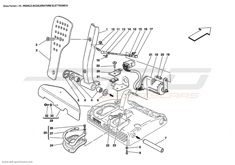 Ferrari enzo interior parts at atd sportscars atd sportscars electronic accelerator pedal vanachro Images