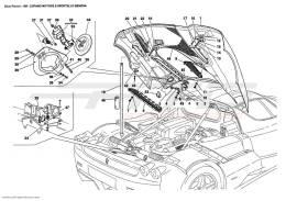 Ferrari Enzo ENGINE BONNET AND GAS DOOR