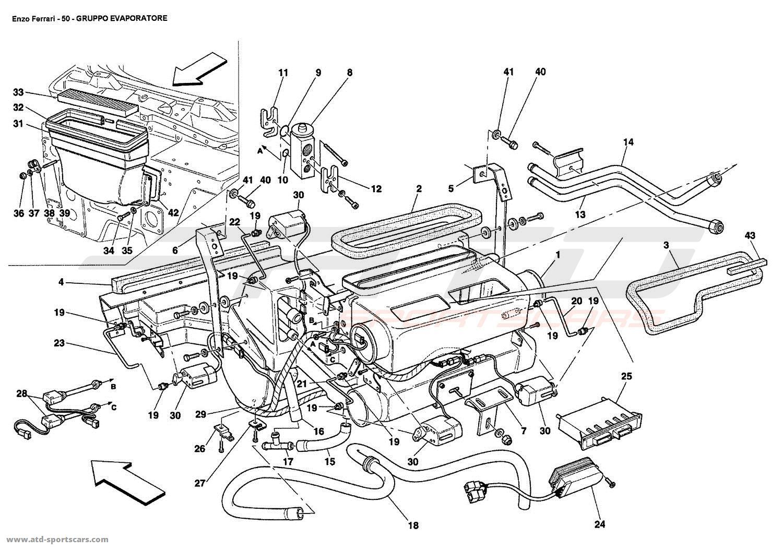 Ferrari Enzo EVAPORATOR UNIT parts at ATD-Sportscars | ATD ... on ferrari 308 qv wiring, ferrari 308 gts,