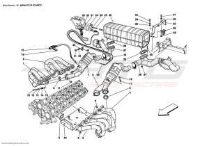 Ferrari Enzo EXHAUST SYSTEM