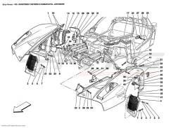 Ferrari Enzo FRONT - OUTER TRIMS AND WHEELHOUSE