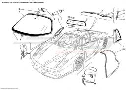 Ferrari Enzo GLASSES, GASKETS AND REAR VIEW MIRRORS