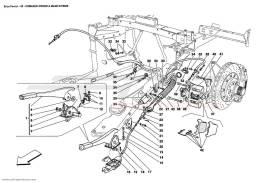 Ferrari Enzo HAND-BRAKE CONTROL AND CALIPER