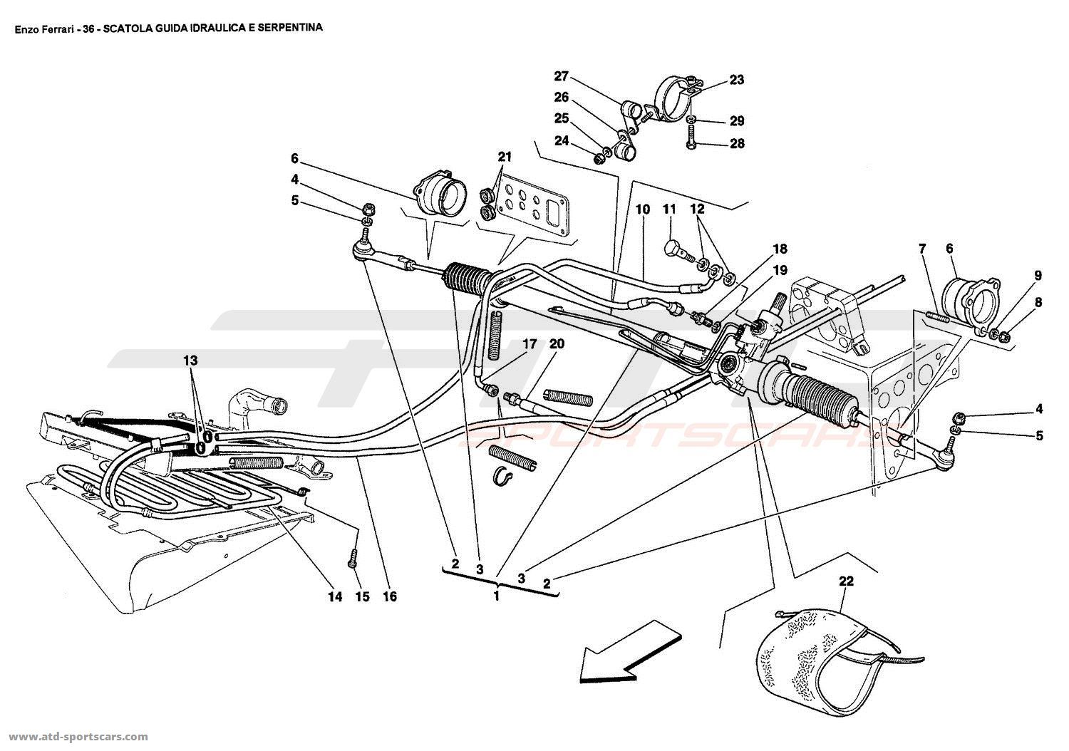 Ferrari enzo undercarriage parts at atd sportscars atd sportscars hydraulic steering box and serpentine pooptronica Choice Image
