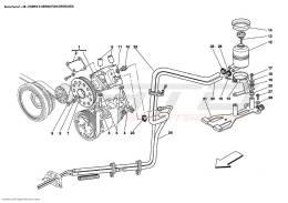 Ferrari Enzo HYDRAULIC STEERING PUMP AND TANK
