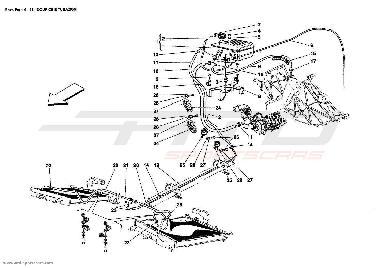 Ferrari Enzo Cooling - Air-Conditioning parts at ATD ... on ferrari 308 qv wiring, ferrari 308 gts,