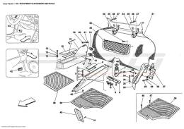 Ferrari Enzo PASSENGERS COMPARTMENT UPHOLSTERY AND ACCESSORIES