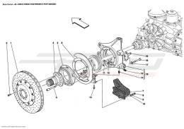 Ferrari Enzo REAR BRAKE DISC AND HUB HOLDER