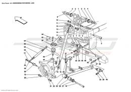 Ferrari Enzo REAR SUSPENSION - WISHBONES