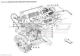 Ferrari Enzo REAR SUSPENSIONS - SHOCK ABSORBER AND STABILIZER BAR