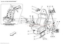 Ferrari Enzo SEAT AND SAFETY BELTS
