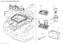 Ferrari Enzo TRUNK COMPARTMENT AND TOOLS EQUIPMENT