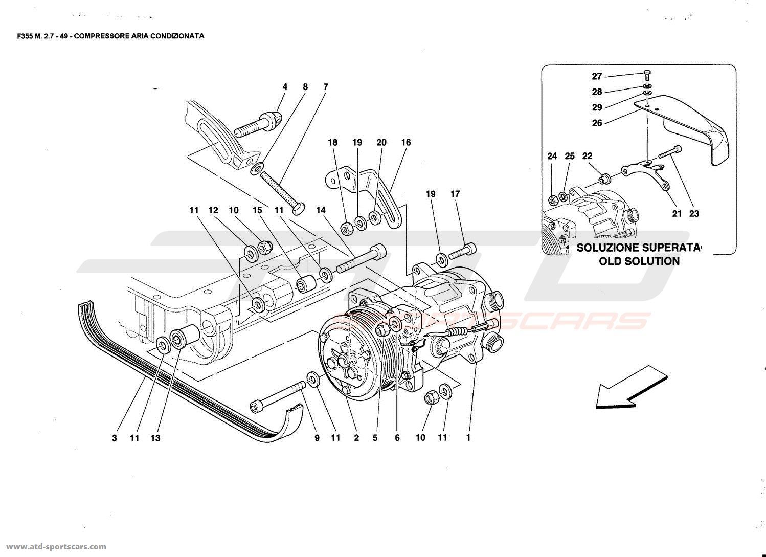 Ferrari 355 Wiring Diagram Manual Guide 1972 C10 Ac F355 2 7 Air Conditioning Compressor Parts At Atd Sportscars Rh Com