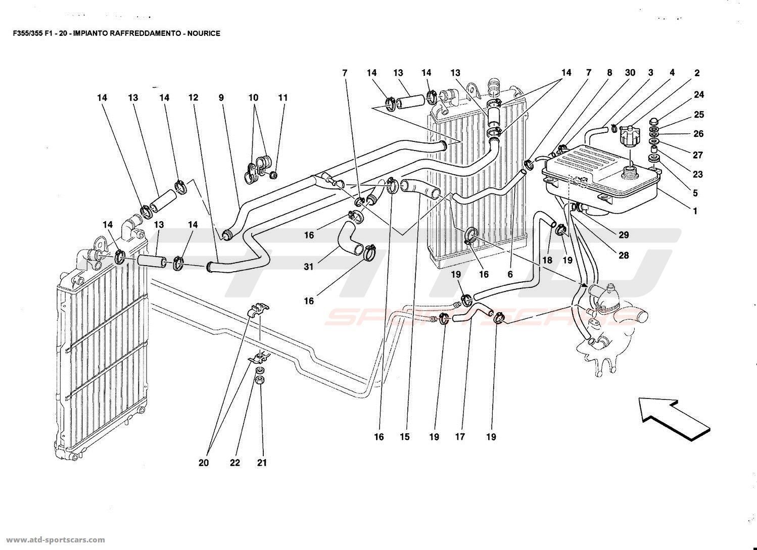 ferrari f355 5 2 et f1 cooling system nourice ferrari f355 5 2 f1 cooling air conditioning parts at atd ferrari 355 wiring diagram at panicattacktreatment.co