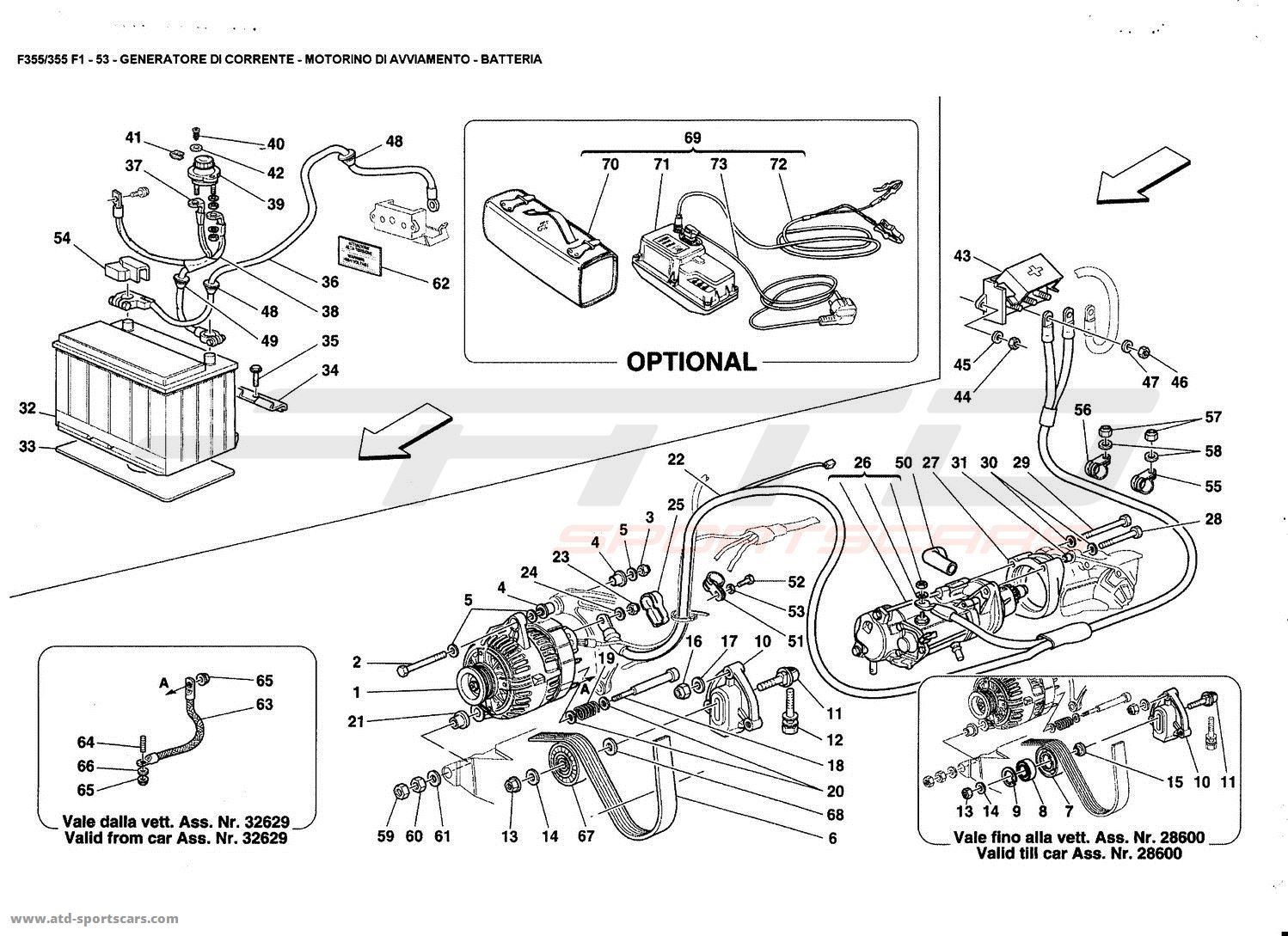 Peachy Ferrari F355 5 2 F1 Electrical Parts At Atd Sportscars Atd Wiring Cloud Pimpapsuggs Outletorg
