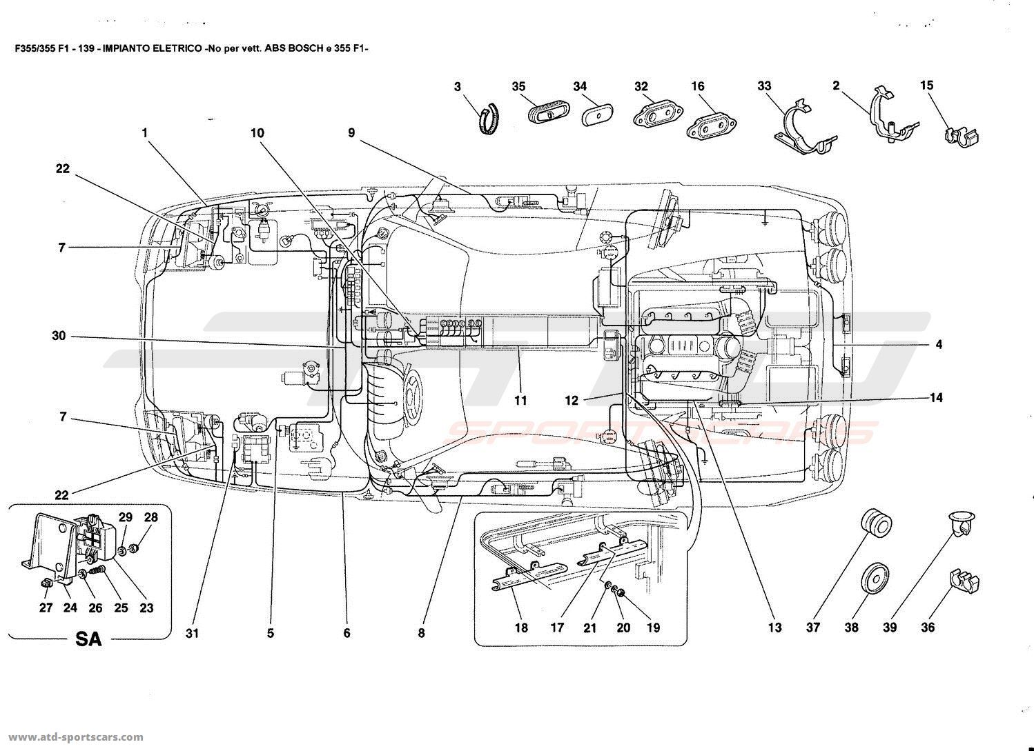 Swell Ferrari F355 5 2 F1 Electrical Parts At Atd Sportscars Atd Wiring Cloud Pimpapsuggs Outletorg