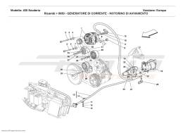 Ferrari F430 Scuderia CURRENT GENERATOR - STARTING MOTOR