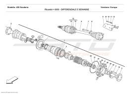 Ferrari F430 Scuderia DIFFERENTIAL AND AXLE SHAFT
