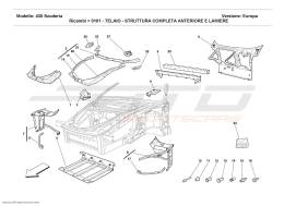 Ferrari F430 Scuderia FRAME - COMPLETE FRONT PART STRUCTURES AND PLATES
