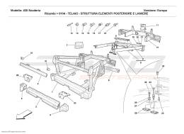 Ferrari F430 Scuderia FRAME - REAR ELEMENTS STRUCTURES AND PLATES