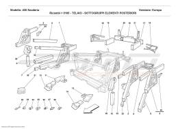 Ferrari F430 Scuderia FRAME - REAR ELEMENTS SUB-GROUPS