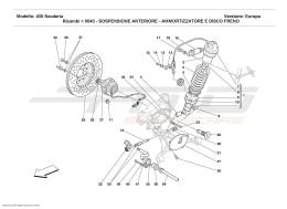 Ferrari F430 Scuderia FRONT SUSPENSION - SHOCK ABSORBER AND BRAKE DISC