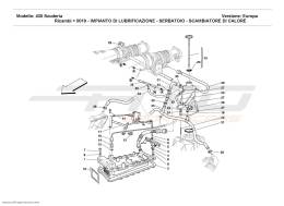Ferrari F430 Scuderia LUBRICATION SYSTEM - TANK - HEATER EXCHANGER