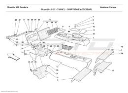 Ferrari F430 Scuderia TUNNEL - FRAMEWORK AND ACCESSORIES