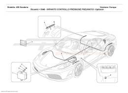 Ferrari F430 Scuderia TYRES PRESSURE CONTROL SYSTEM