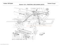 Ferrari F430 Spider CAPOTE MECHANISM AND TIE RODS