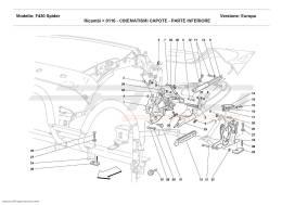 Ferrari F430 Spider CAPOTE MOVEMENT - LOWER PART