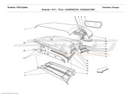 Ferrari F430 Spider CHASSIS - GASKETS - MOULDINGS