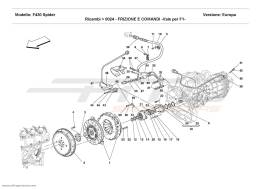Ferrari F430 Spider CLUTCH AND CONTROLS - Valid for F1 -