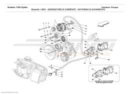 Ferrari F430 Spider CURRENT GENERATOR - STARTING MOTOR
