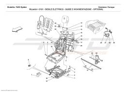Ferrari F430 Spider ELECTRICAL SEAT - GUIDE AND MOVEMENT - OPTIONAL