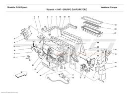 Ferrari F430 Spider EVAPORATOR UNIT