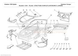 Ferrari F430 Spider FRAME - COMPLETE FRONT PART STRUCTURES AND PLATES