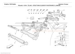 Ferrari F430 Spider FRAME - REAR ELEMENTS STRUCTURES AND PLATES