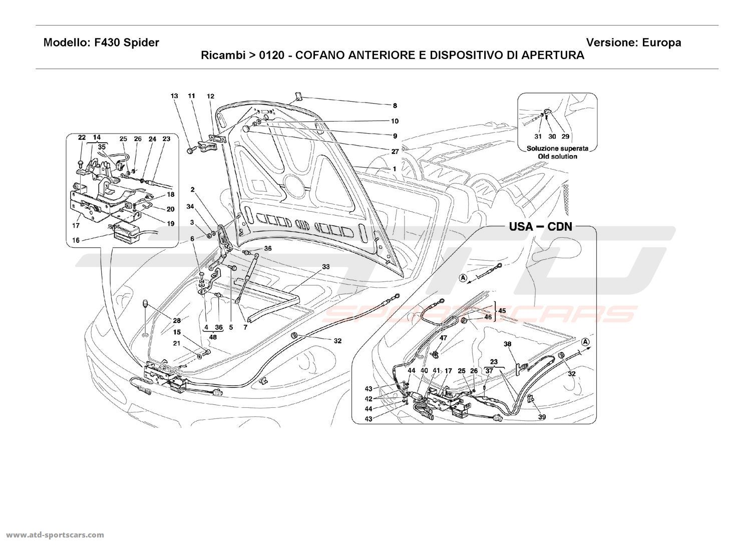 FRONT HOOD AND OPENING DEVICE