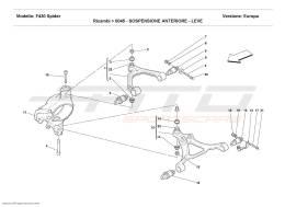 Ferrari F430 Spider FRONT SUSPENSION - WISHBONES
