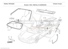 Ferrari F430 Spider GLASSES AND GASKETS